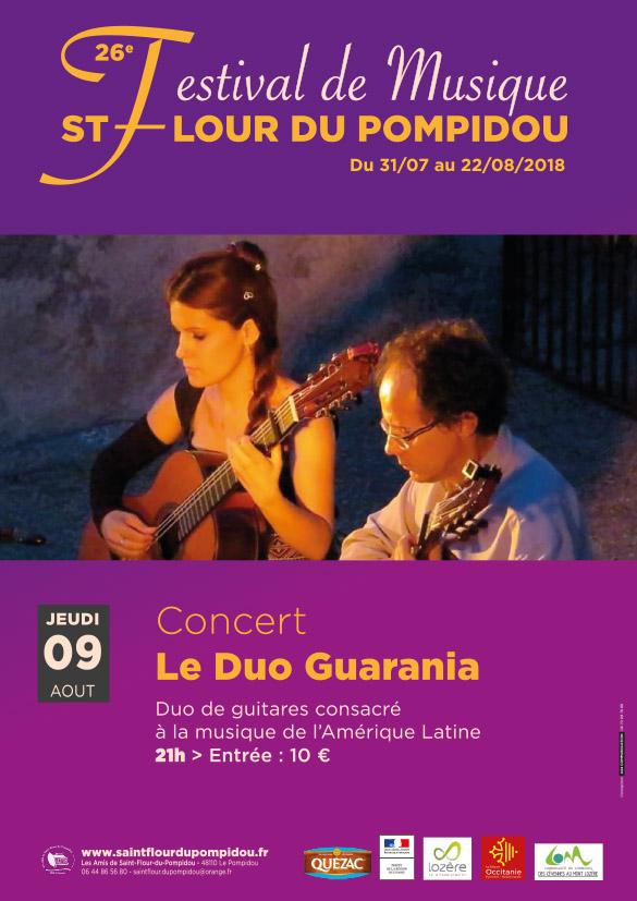 Concert Duo Guarania – Jeudi 9 Août 2018