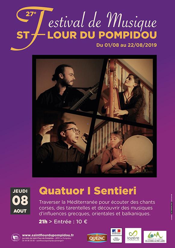 Quatuor I Sentieri  – Jeudi 08 août 2019